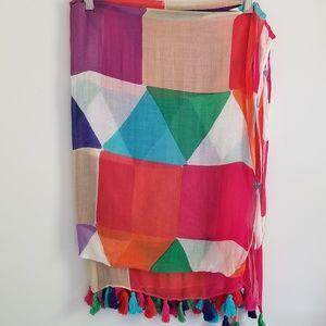 Kate Spade multi color pashmina size scarf